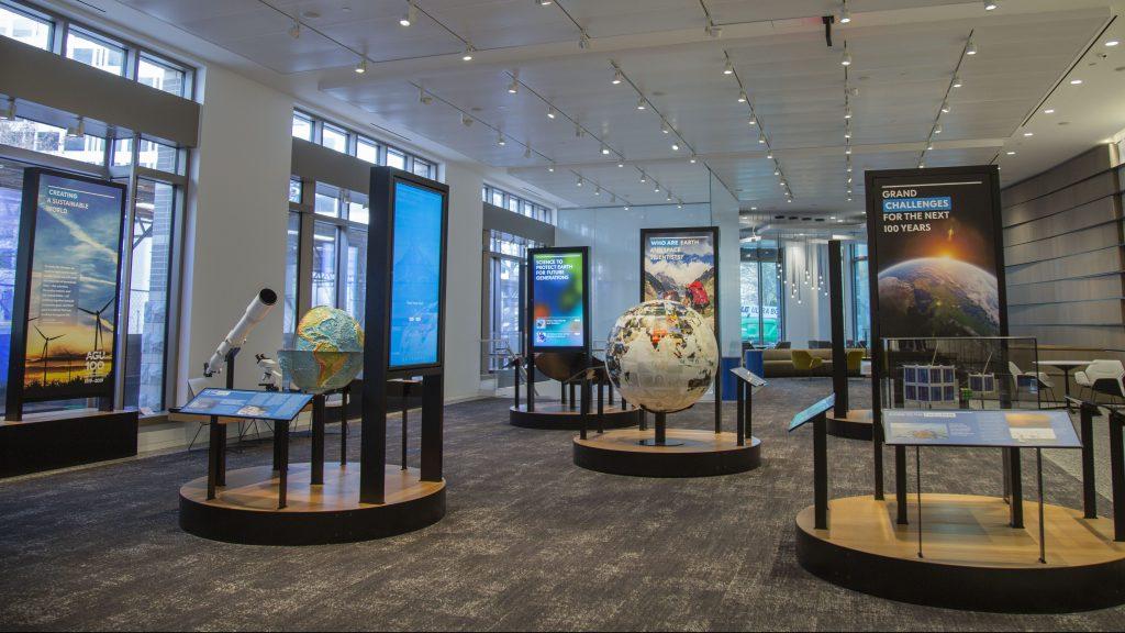 AGU Lobby Science Exhibit